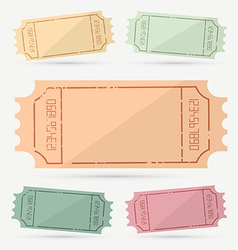 Retro - vintage empty ticket set vector
