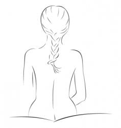sensual sketch vector image