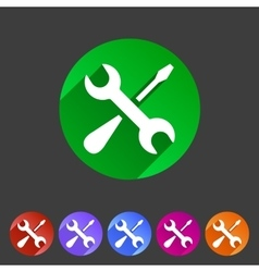 Repair icon flat web sign symbol logo label set vector