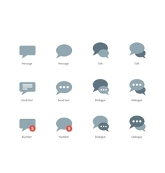 Talks and dialog bubble icons on white background vector
