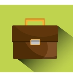 Business briefcase icon vector