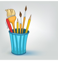 Cartoon pencil set vector
