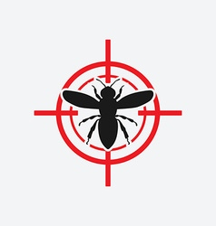 Wasp icon red target vector