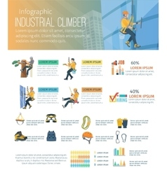 Infographic Climber vector image