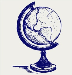 Globe sketch vector image
