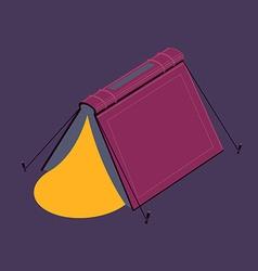 Book tent vector