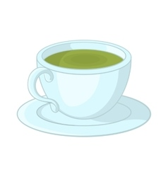 A cup of tea icon in cartoon style vector