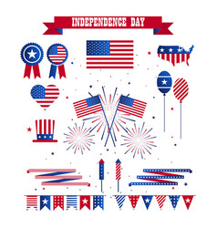 a set of design elements for independence day vector image