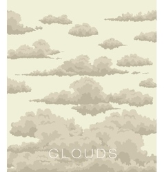 abstract background of clouds in the sky vector image