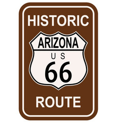 arizona historic route 66 vector image