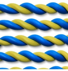 Blue yellow ropes vector