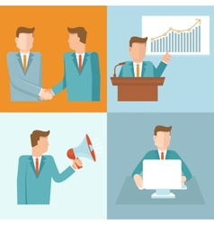 business concepts in flat style vector image vector image