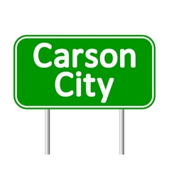 Carson city green road sign vector