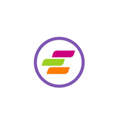 colorful letter e logo vector image