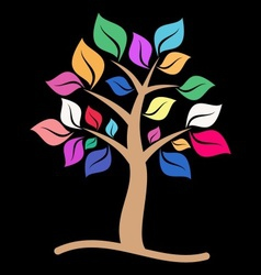 Colorful tree vector