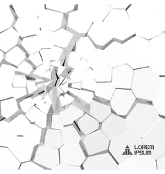 Cracked 3d background vector image