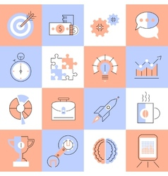 Creative icons set flat line vector image vector image