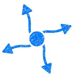 Curve arrows grunge icon vector