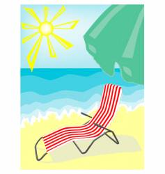 deck-chair vector image