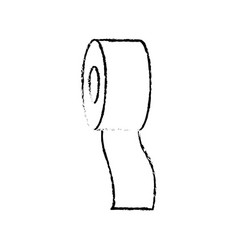 Drawing bandage roll medical help equipment vector