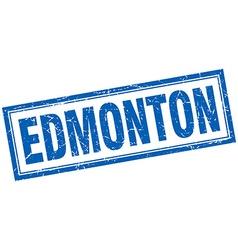Edmonton blue square grunge stamp on white vector