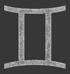 Gemini zodiac sign line art vector