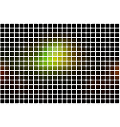 green brown yellow black abstract rounded mosaic vector image vector image