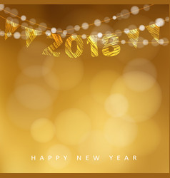 happy new year greeting card with 2018 and vector image