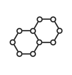 icon molecules vector image