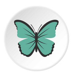 Insect butterfly icon circle vector