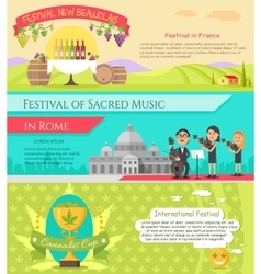 Italy national festivals in flat style design vector