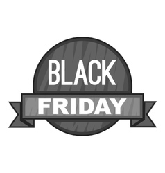 Label black friday icon gray monochrome style vector