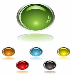 lozenge gel button vector image vector image