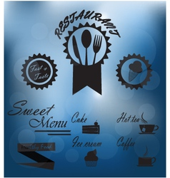 Menu poster on glass vector image vector image
