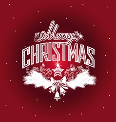 Merry Christmas openwork design vector image