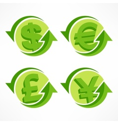 Money symbol on white vector image vector image