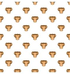 Monkey face pattern cartoon style vector