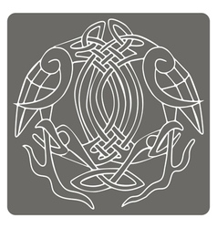 monochrome icon with Celtic art vector image