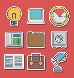 office elements related icons vector image vector image