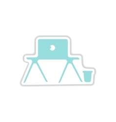 Paper sticker on white background laptop table vector
