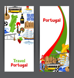 Portugal banners portuguese national traditional vector