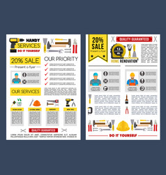 Poster template for home repair service vector