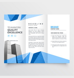 Real estate modern brochure design for your vector