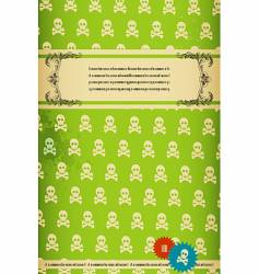 retro skull background vector image vector image