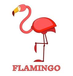 Rosy flamingo linear icon vector