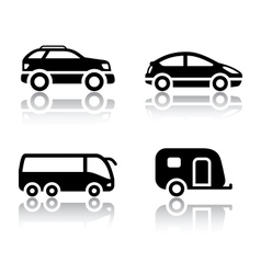 set of transport icons - vehicles vector image