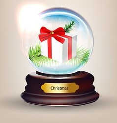 Snow globe design vector