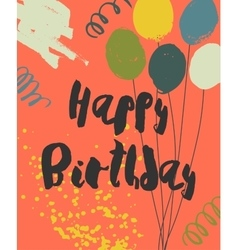 Colorful happy birthday card template vector