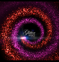 Magic glowing trails of particles vector