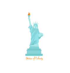 Statue of liberty in united states of america with vector